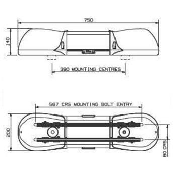 Aerolite 6212.200 Lightbar diagram (S.20641)