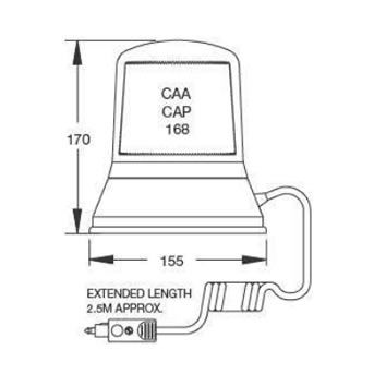 B334 Magnetic Single Bulb Beacon diagram (S.28760)
