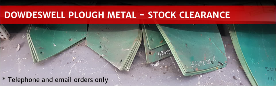 Dowdeswell Genuine Plough Parts - Stock CLearance